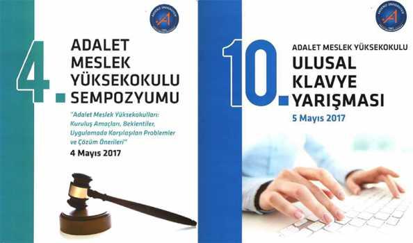 4. Adalet MYO Sempozyumu ve 10. F Klavye Yarışı